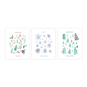 Winter Watercolors Holiday Boxed Set of 9