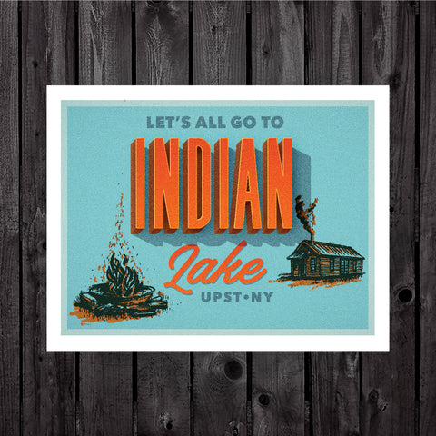 Indian Lake Print & Postcard