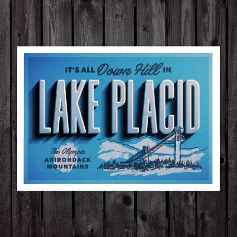 Lake Placid Print & Postcard