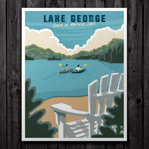 Lake George Travel Print