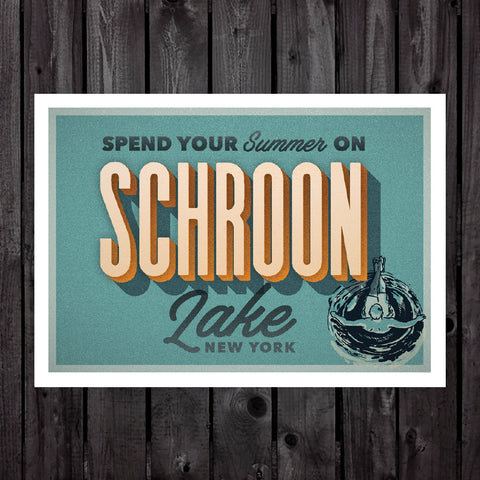 Schroon Lake Print & Postcard