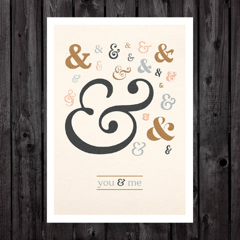 You & Me Light Print