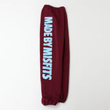 HAPPY MISFIT BURGUNDY SWEATPANTS - surfer blue