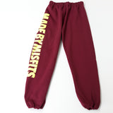 HAPPY MISFIT BURGUNDY SWEATPANTS