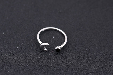 Silver 925 Sterling Silver Moon Rings Oepn Rings For Women Girl Jewelry Drop Shipping