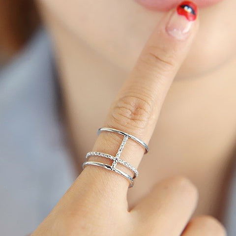 925 Silver Cross Rings For Women Jewelry Finger Rings