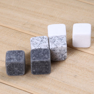 6pcs Natural Whiskey Stones Rock Set