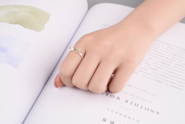 Fashion 925 Sterling Silver Rabbit Rings For Women Jewelry Finger Ring