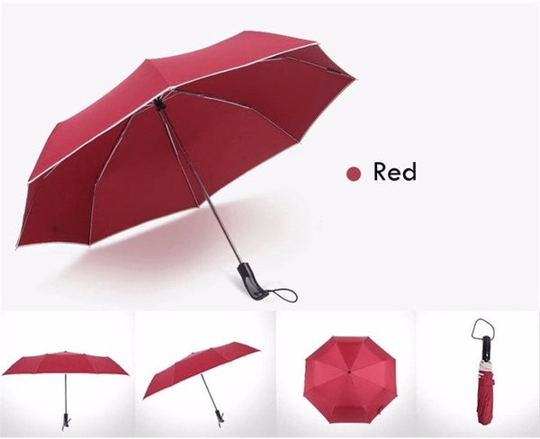 Fully-automatic men business folding umbrella