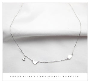 925 Sterling Silver Crescent Necklaces