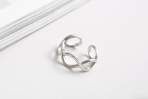 925 Sterling Silver Rings 925 Retro Vintage Open Rings Jewelry