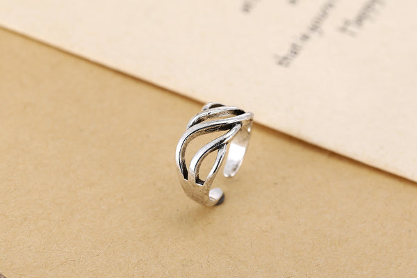 Sterling Silver 925 Open Rings For Women Jewelry
