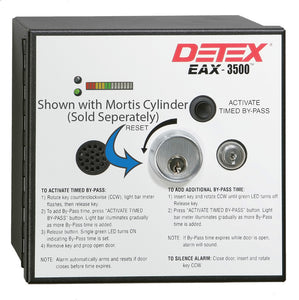 Detex EAX-3500FK Flush Mount Timed Bypass Exit Alarm & Rechargable Battery