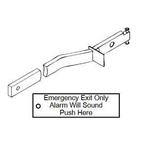 "Detex ECL-2105K Field Conversion Kit For 36"" to 48"" Door Width with Metal Photoluminescent Plate"