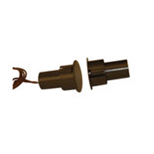 Detex MS-1059F Economical Magnetic Switch | Flush Mount | Closed Contacts | Color: Brown