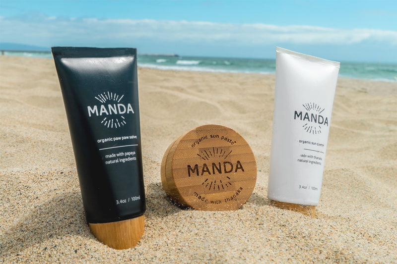 Meet the all-new MANDA Organic Sun Creme and Organic Paw Paw Salve