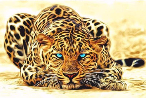 Blue-Eyed Leopard