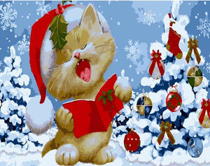Holiday Kitty Caroler