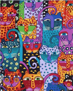 Multi Colored Cats