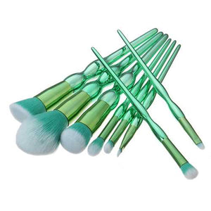 8pcs Mint Green Soft Hair Makeup Brushes Kit Cosmetic Foundation Powder Blush Eyeliner Eyeshadow