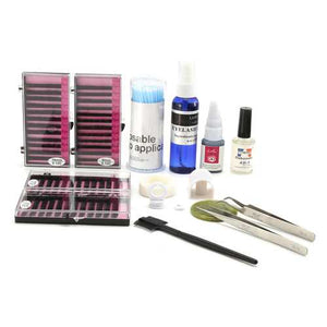 15 in 1 Individual False Eyelash Extension Kit Grafting Strip Glue Mascara Wands Tweezers Makeup Cleaner