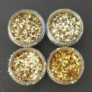 Champagne Gold Mixed Glitter Powder Sequins Shining Dust Nail Art Decoration Eye Shadow Ornament