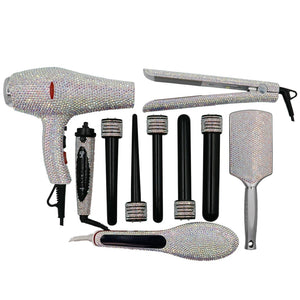 Swavorski Crystal Hair Tool Set