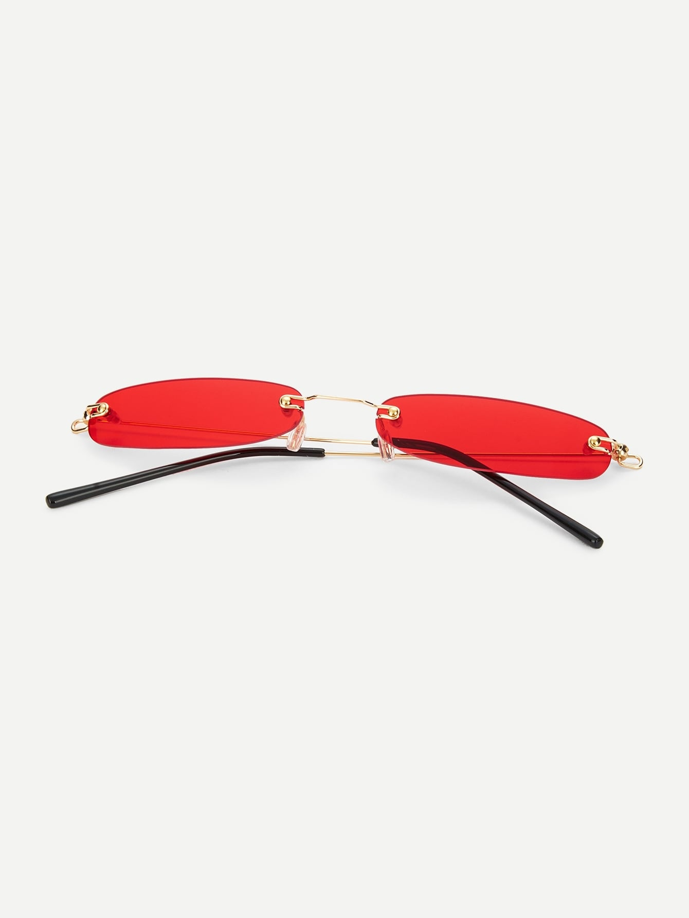 Rimless Oval Sunglasses