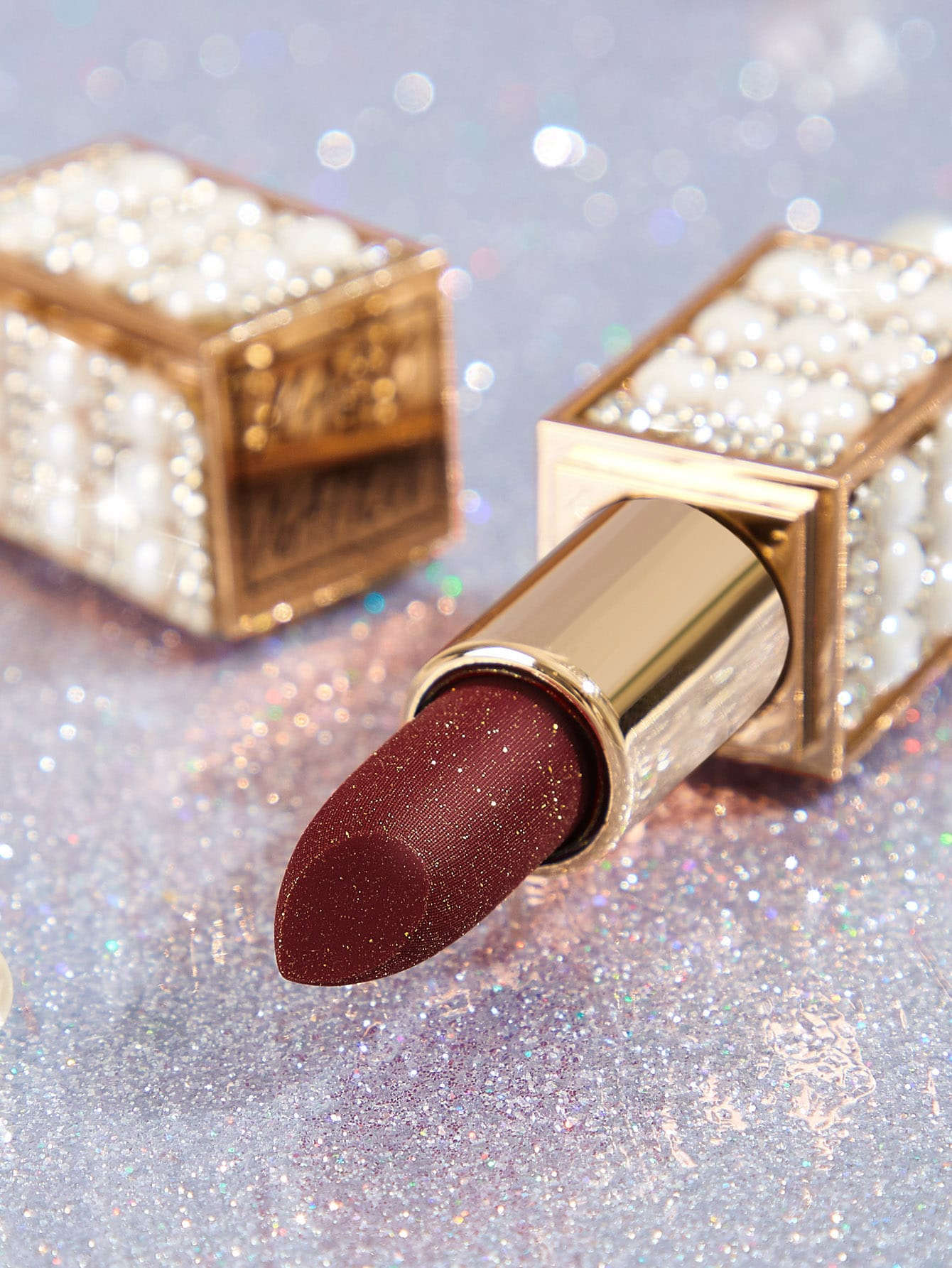 Star Shine Velvet Glitter Lipstick Apple Color