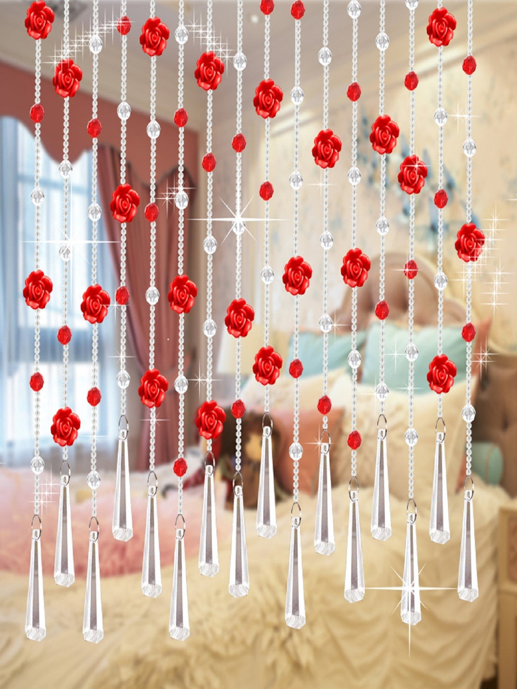 1pc Flower Decor Bead Curtain