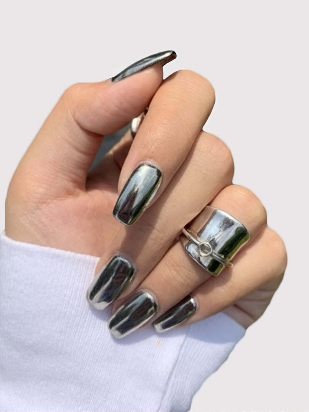 CHROME NAILS PRESS ON SET