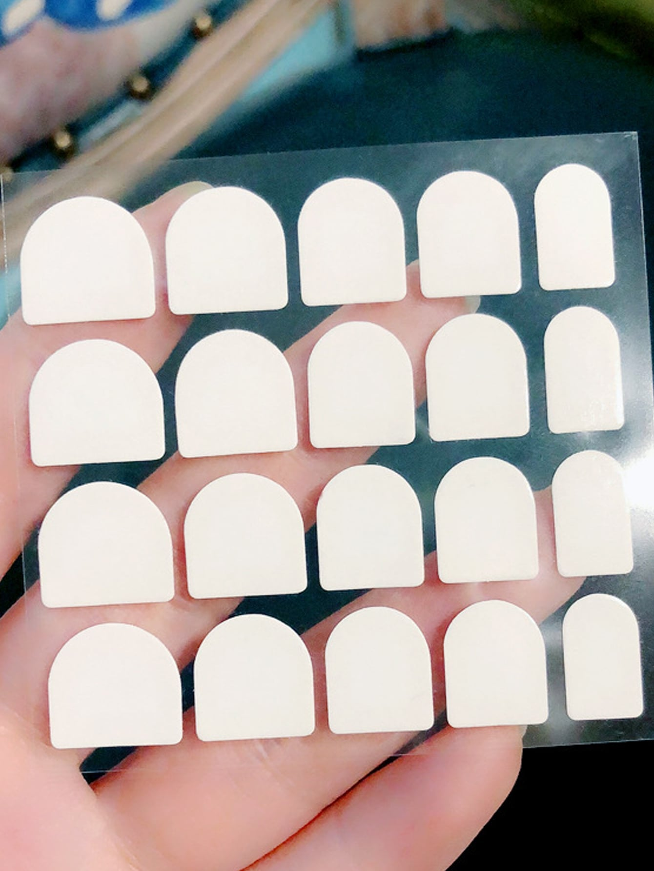 24pcs Mirror Surface PRESS ON Nails With Double-side Tape
