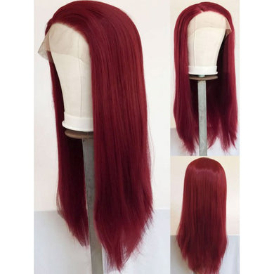 $69.99 HIGH END SYNTHETIC WIG! NATURAL BURGUNDY