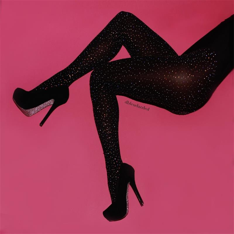 CRYSTAL STUDDED FISHNET STOCKINGS