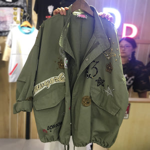 Oversized Embroidery Jacket