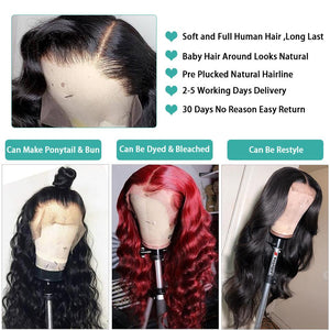 Loose Deep Curly 360 Lace Frontal Wig 10A Human Hair Wigs Body Straight Water Human Hair Lace Front wigs Brazilian Hair Peruvian Indian