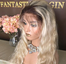 "NEW! ""HEART"" FULLY CUSTOMIZED DARK ROOT BLONDE BRAZILIAN BODY WAVE LACE FRONTAL WIG"