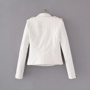 Lozenge Leather Jacket
