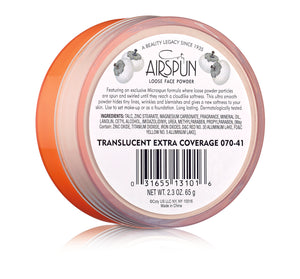 Coty Airspun Loose Face Powder, 041 Translucent Extra Coverage