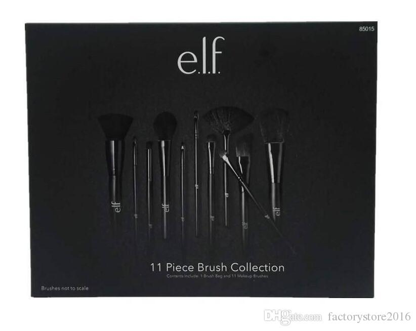 11pcs/set ELF Makeup Brush Set Face Cream Power Foundation Brushes Multipurpose Beauty Cosmetic Tool Brushes Set with box
