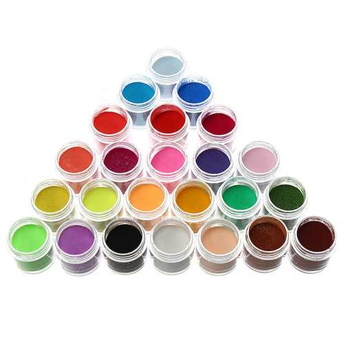 24 Colors Acrylic Manicure Nail Art Powder Dust Decoration