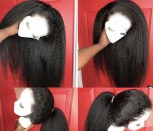 """Plug Talk"" 360 FULL LACE YAKI STRAIGHT WIG 100% UNPROCESSED HAIR 180 DENSITY"