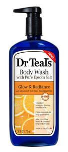 Dr Teal's Glow & Radiance Body Wash with Vitamin C and Citrus Essential Oils, 24 fl.oz.