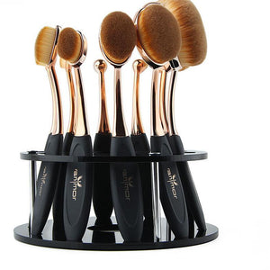 10pc OVAL BRUSH SET w/ HOLDER INCLUDED