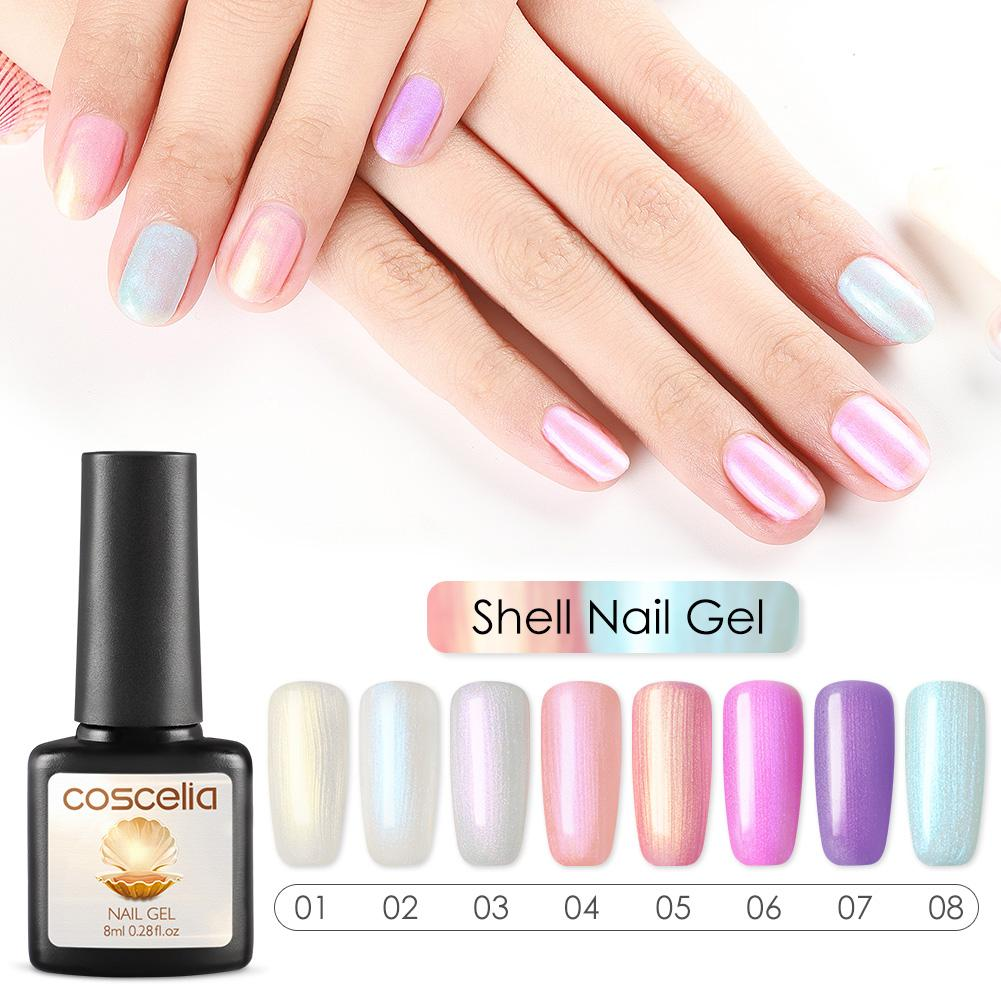 COSCELIA 36W Nail Set UV LED Dryer Poly Nail Gel Polish Kit Soak Off Manicure Set Lasting Gel Polish Kit For Art Tools