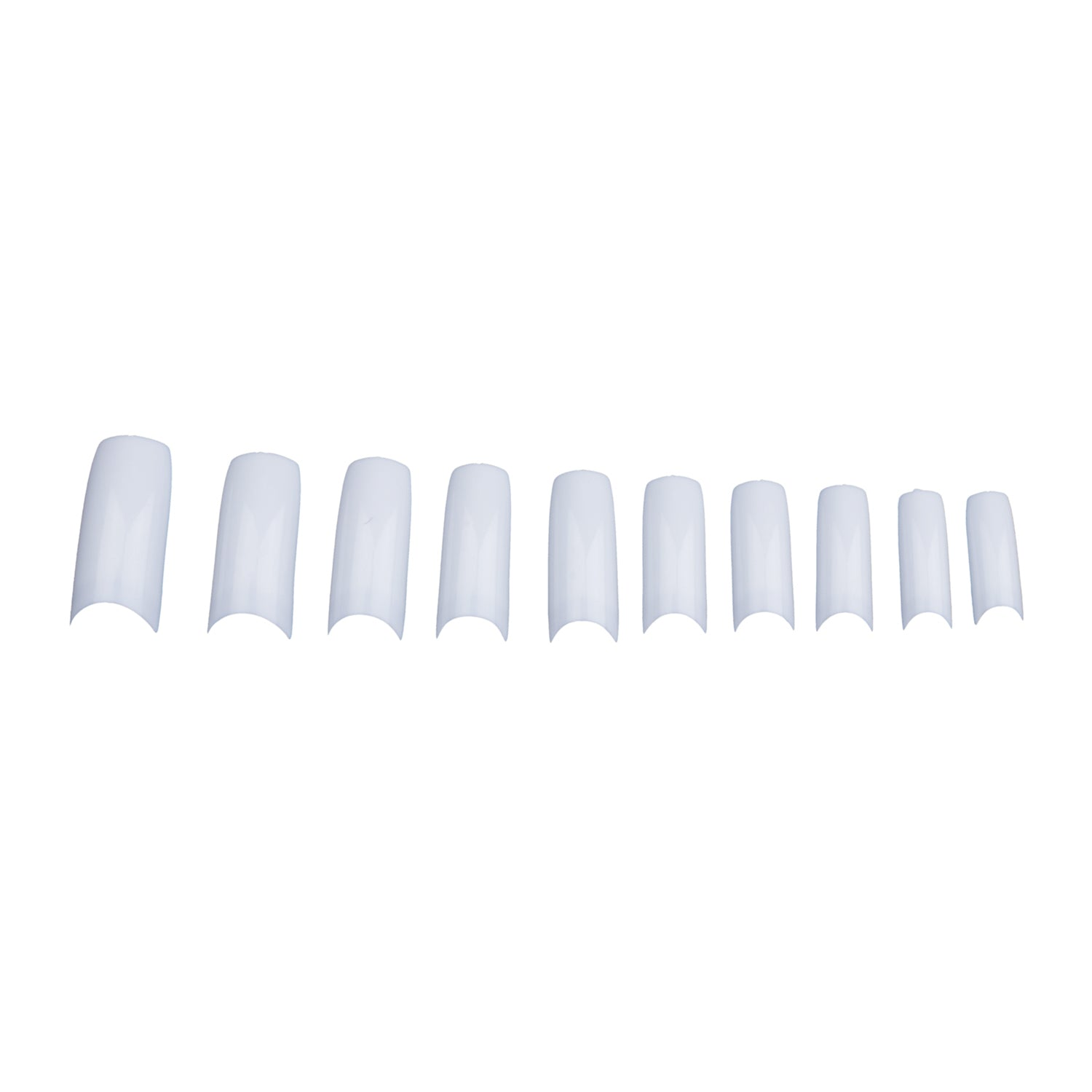 500 pcs French Style Acrylic Artificial Fingernails Half Tips White