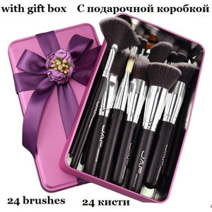 JAF Professional Makeup Brushes Set Kit Lip Powder Foundation Blusher Eye shadow Eyelashes Concealer Brush Tool 24pcs/set