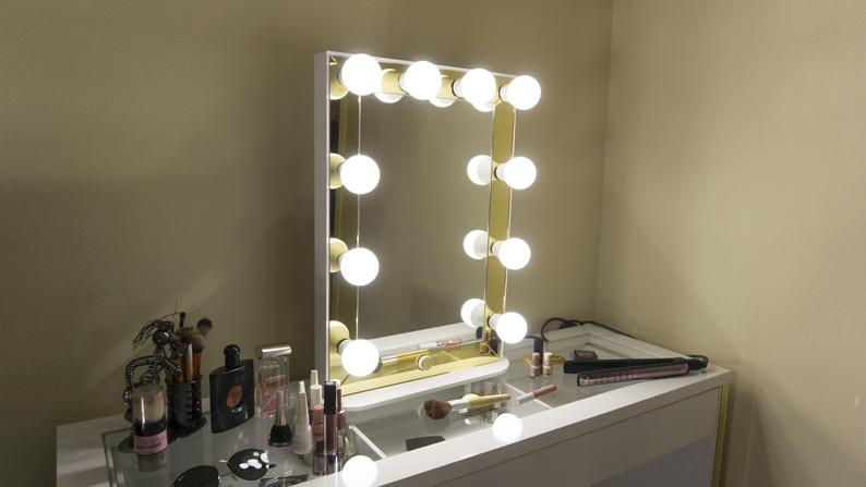Vanity Mirror With Lights 60'x40cm''' Gold Frame Free Shipping 2-3 Days Delivery