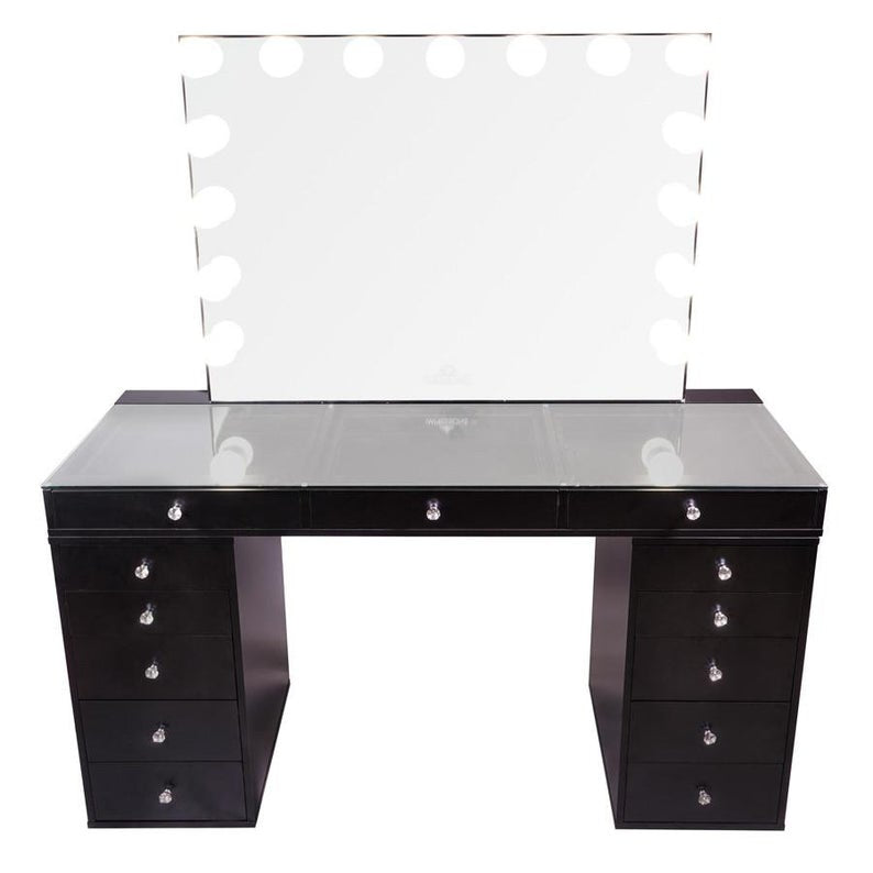 Hollywood Makeup Vanity Mirror with Lights-Impressions Vanity Glow Pro Makeup Vanity Mirror + SlayStation® Pro 2.0 Tabletop + 2 Drawers