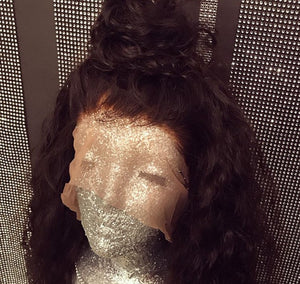 """The Elva"" Water Wave Pre-plucked Bleached Knots w/ Baby Hair"